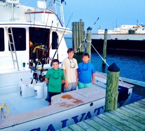 Geared up for an Offshore Ocracoke Charter